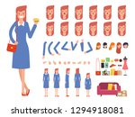 young woman shopping character... | Shutterstock .eps vector #1294918081