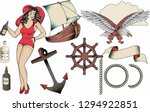 sailor tattoo elements no2... | Shutterstock .eps vector #1294922851