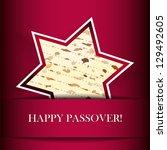vector passover card with matza ...   Shutterstock .eps vector #129492605