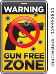 vector gun free zone street and ...