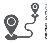 destination glyph icon  gps and ... | Shutterstock .eps vector #1294967911