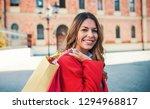 woman in shopping. happy woman... | Shutterstock . vector #1294968817