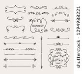 calligraphic borders  patterns  ... | Shutterstock .eps vector #1294988221
