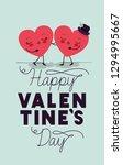 hearts love couple kawaii... | Shutterstock .eps vector #1294995667