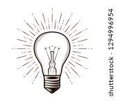 bulb  lamp sketch. electricity  ... | Shutterstock .eps vector #1294996954