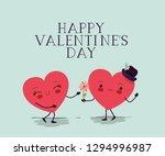 hearts love couple kawaii... | Shutterstock .eps vector #1294996987