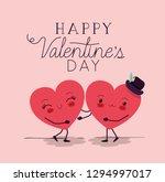 hearts love couple kawaii... | Shutterstock .eps vector #1294997017