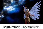 3d illustration of a winged... | Shutterstock . vector #1295001844