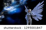 3d illustration of a winged... | Shutterstock . vector #1295001847