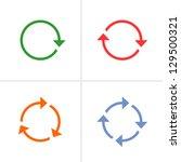 4 arrow pictogram refresh ... | Shutterstock .eps vector #129500321