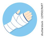 broken arm  bone fracture ... | Shutterstock .eps vector #1295019697