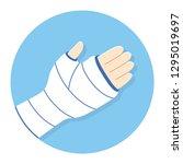 broken arm  bone fracture ... | Shutterstock .eps vector #1295019697
