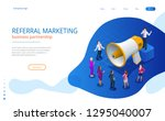 isometric referral marketing ... | Shutterstock .eps vector #1295040007