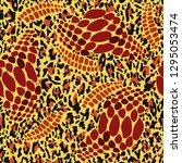 fashionable leopard  snake skin ... | Shutterstock .eps vector #1295053474