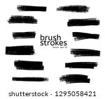 vector grunge black paint  ink... | Shutterstock .eps vector #1295058421
