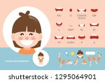 mouth animation set for... | Shutterstock .eps vector #1295064901
