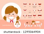 mouth animation set for... | Shutterstock .eps vector #1295064904