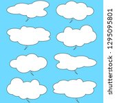 bubbles speech. empty comic.... | Shutterstock .eps vector #1295095801