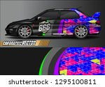sport car livery graphic vector.... | Shutterstock .eps vector #1295100811