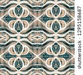 batik seamless pattern.... | Shutterstock . vector #1295158687