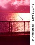 sunset over the ocean | Shutterstock . vector #1295161741