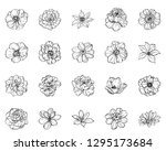 flowers set. collection of... | Shutterstock .eps vector #1295173684