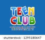 vector colorful logo teen club. ... | Shutterstock .eps vector #1295180647