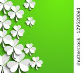 irish shamrock leaves... | Shutterstock .eps vector #129520061