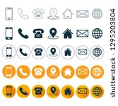 5 style contact icons pack. 5... | Shutterstock .eps vector #1295203804