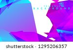 abstract vector triangle... | Shutterstock .eps vector #1295206357