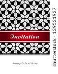 vintage invitation  greeting... | Shutterstock .eps vector #129521927