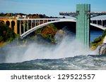 Niagara Falls And Rainbow...