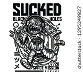 sucked black holes black and... | Shutterstock .eps vector #1295249827