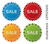 Colorful Sale Tags With Textur...