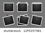 pack of square realistic frame... | Shutterstock .eps vector #1295257381