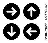 Arrow Icon Set. Glyph Style....