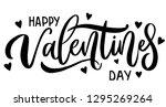 happy valentines day romantic... | Shutterstock .eps vector #1295269264