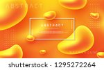 abstract fluid liquid vector... | Shutterstock .eps vector #1295272264