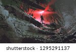 apocalypse world concept... | Shutterstock . vector #1295291137