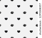 seamless pattern with hearts...   Shutterstock .eps vector #1295308357