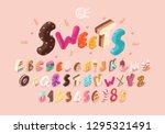 sweet isometric alphabet.... | Shutterstock .eps vector #1295321491