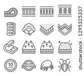 mattress vector line icon set.... | Shutterstock .eps vector #1295325337