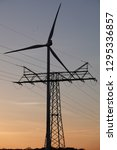 power line and wind power plant | Shutterstock . vector #1295336857