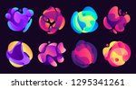 abstract gradients shapes.... | Shutterstock .eps vector #1295341261