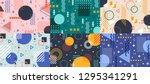 memphis geometry background.... | Shutterstock .eps vector #1295341291