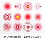 pain circles. red painful... | Shutterstock .eps vector #1295341297