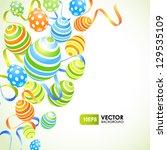easter pattern | Shutterstock .eps vector #129535109