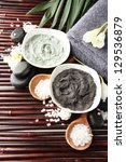 composition with cosmetic clay...   Shutterstock . vector #129536879