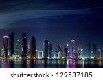 Stock photo doha skyline 129537185