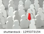 how to choose a leader from the ... | Shutterstock . vector #1295373154